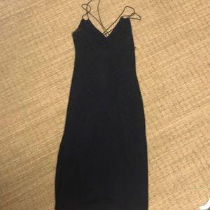 Black midi cocktail dress